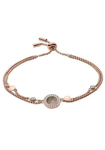 Fossil Armband »CLASSICS, JF02951791«, mit Glassteinen und Perlmutt kaufen