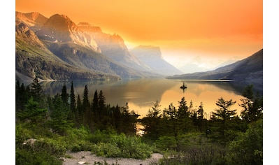 Papermoon Fototapete »Saint Mary Lake«, Vliestapete, hochwertiger Digitaldruck kaufen