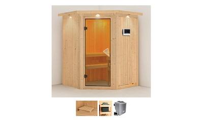 Karibu Sauna »Liva«, 4,5-kW-Bio-Ofen mit externer Steuerung kaufen