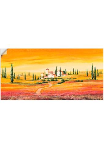 Artland Wandbild »Traumhafte toskanische Landschaft« kaufen