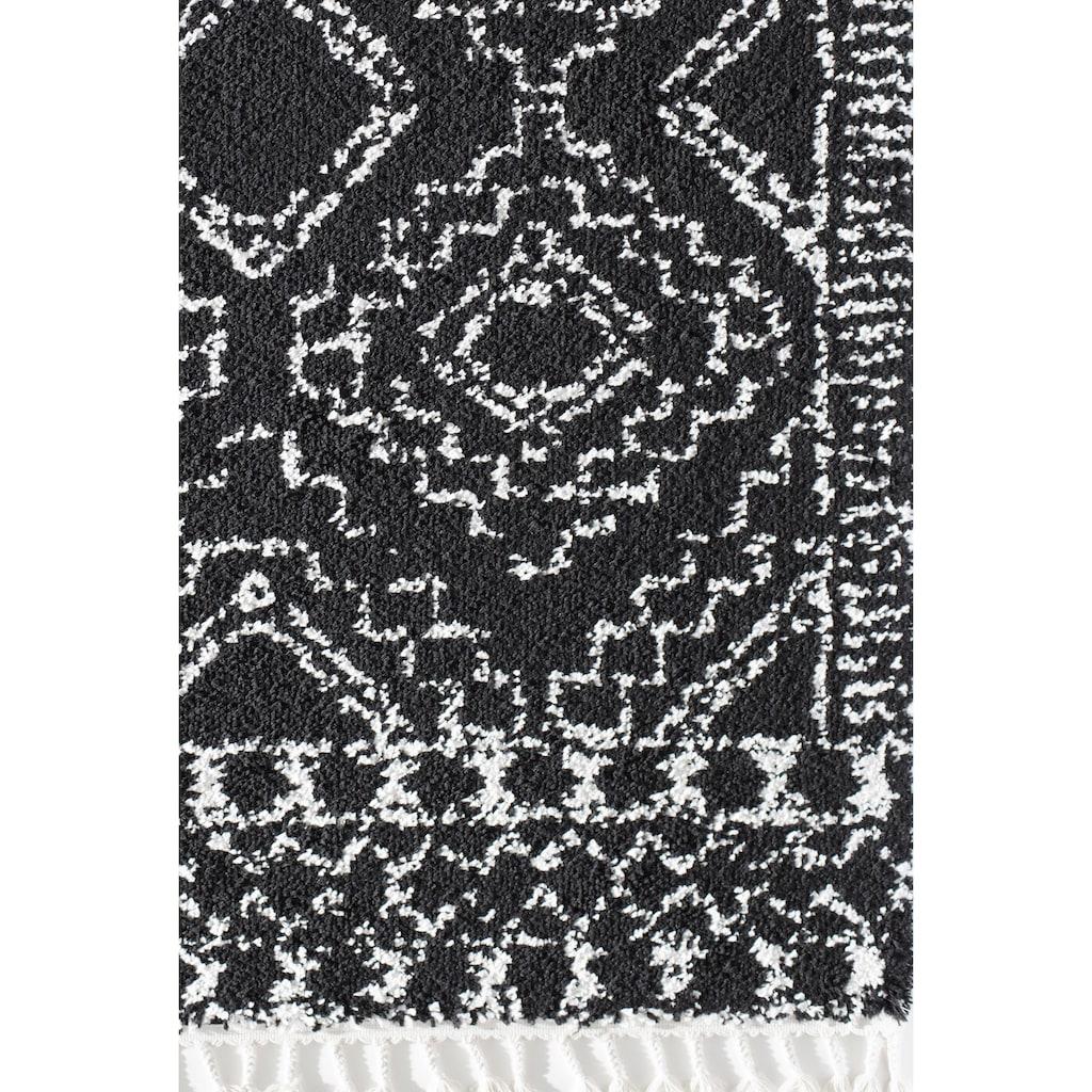 CosmoLiving by Cosmopolitan Teppich »Mason Shag Sable«, rechteckig, 22 mm Höhe, mit Fransen, Wohnzimmer