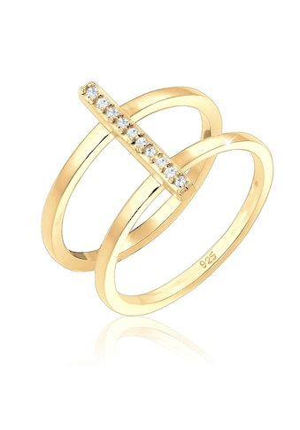 Elli Fingerring »Doppelring Geo Kristalle 925er Silber« kaufen