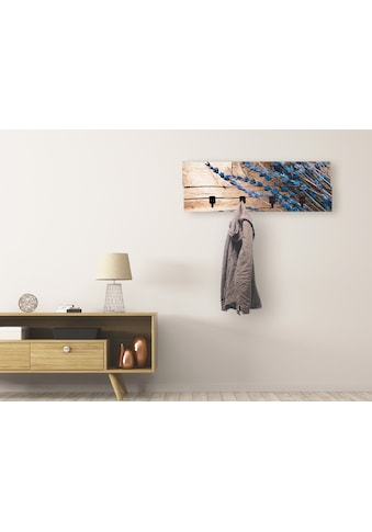 Artland Garderobenpaneel »Lavendel vor Holzhintergrund«, platzsparende Wandgarderobe... kaufen