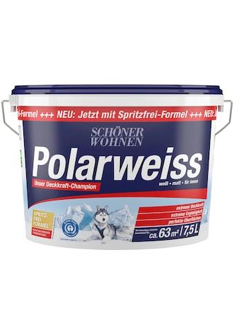 SCHÖNER WOHNEN-Kollektion Wand- und Deckenfarbe »Polarweiss«, 7,5 l, starke Deckkraft kaufen