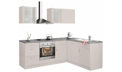 wiho Küchen Winkelküche »Brüssel«, mit E - Geräten, Stellbreite 220 x 170 cm, mit 38 mm starker Arbeitsplatte kaufen