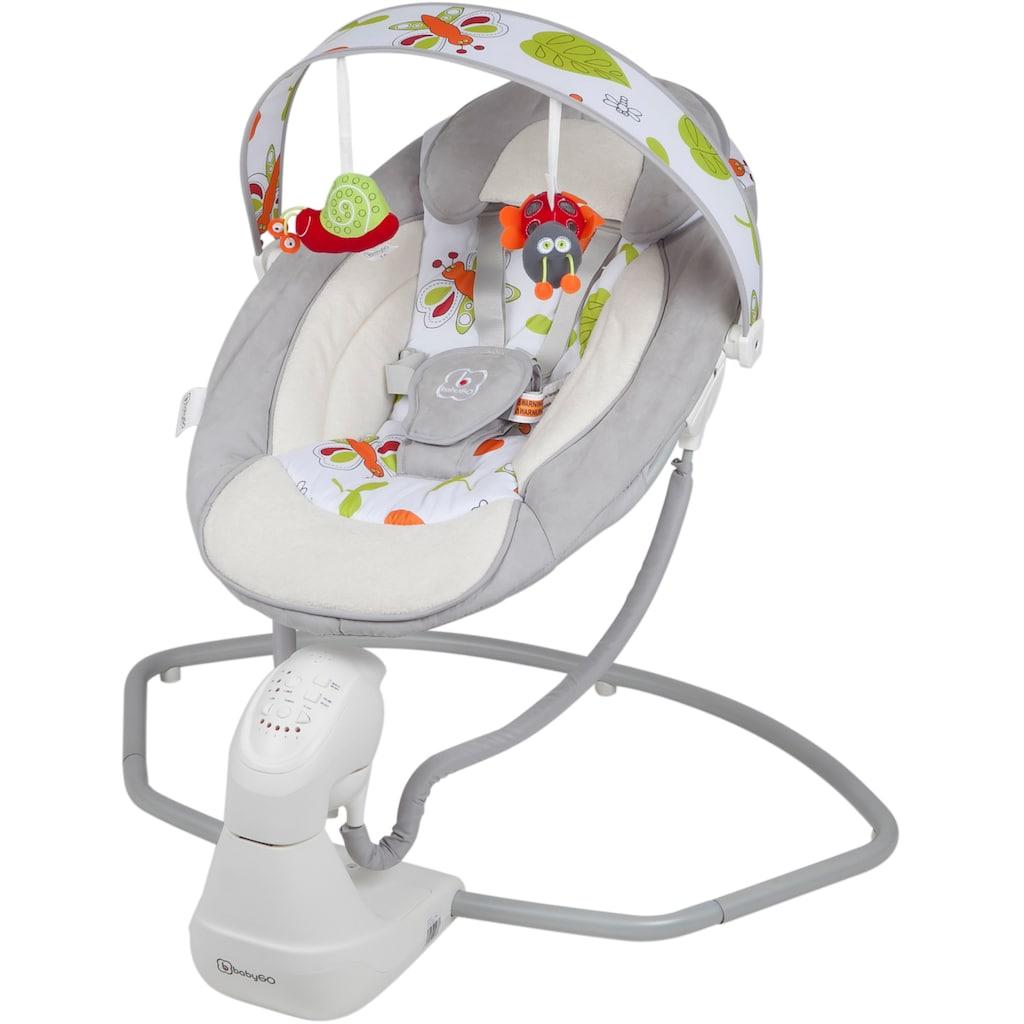 BabyGo Babywippe »Cuddly, grey«, bis 9 kg, elektrisch, mit Sound