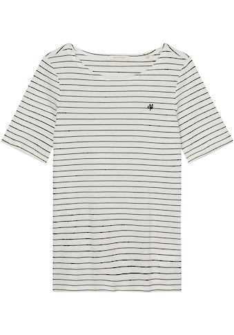 Marc O'Polo T-Shirt, mit kleinem Logo-Detail auf der Brust kaufen