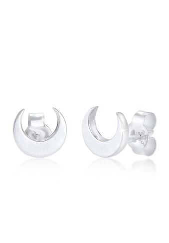 Elli Paar Ohrstecker »Mond Halbmond Matt 925 Silber« kaufen