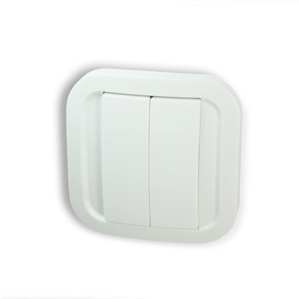 NodOn Flexibel positionierbarer Smart Home Schalter »EnOcean Wandschalter doppelt und einfach«