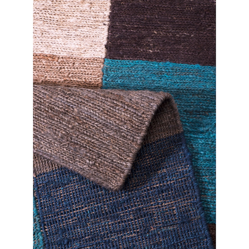 Home affaire Teppich »Check«, rechteckig, 5 mm Höhe, Wohnzimmer