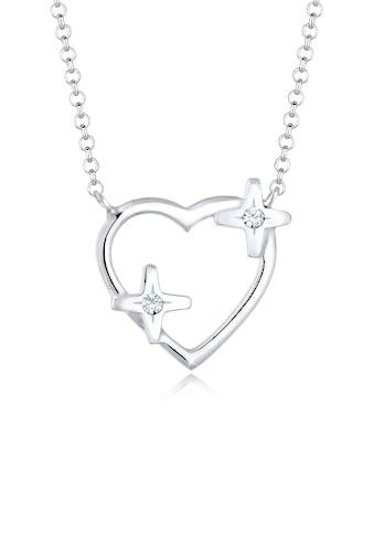 Elli Collierkettchen »Herz Stern Kristalle 925 Silber« kaufen