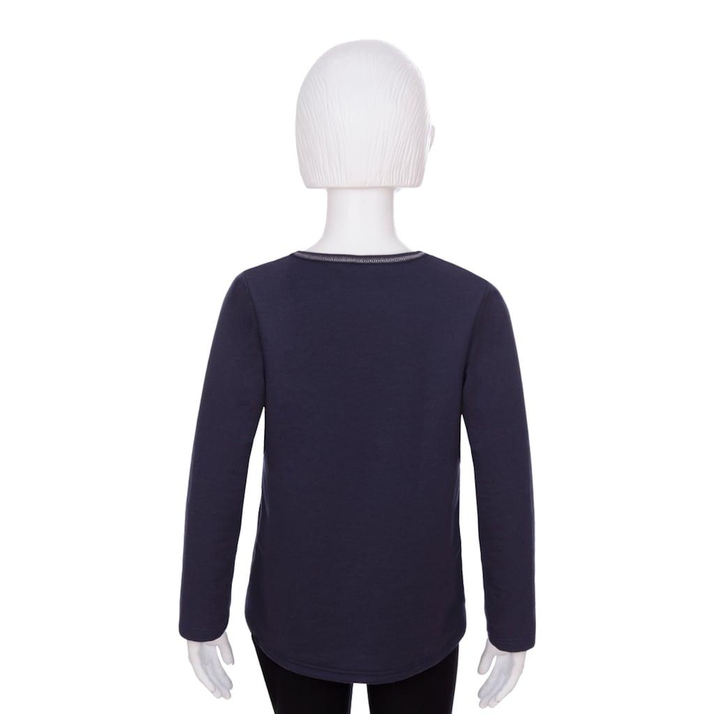 Trigema Sweatshirt, mit Glitzerdruck für Mädchen