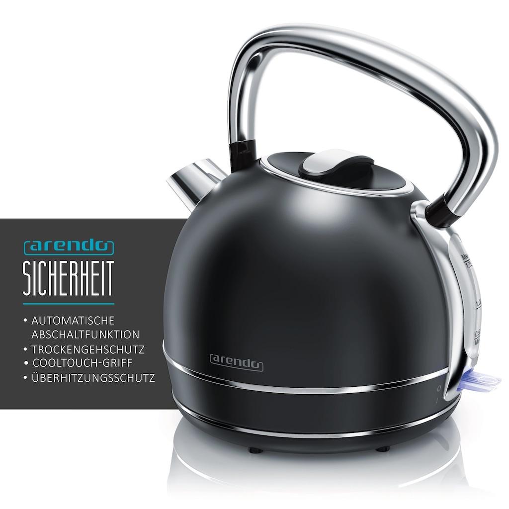 Arendo Frühstücks-Set »Wasserkocher / Toaster / Milchaufschäumer«