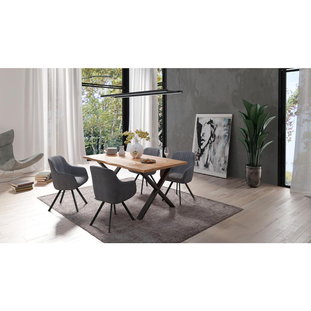 Homexperts Esszimmerstuhl »Carlo«, mit Drehfunktion und Bezug in Cord