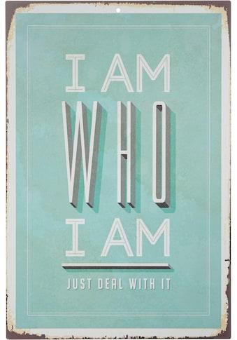 Home affaire Metallbild »I am who I am«, Maße (B/H): ca. 30/45 cm kaufen