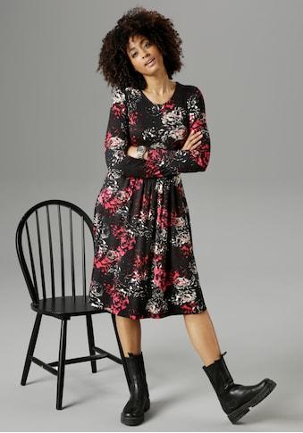 Aniston SELECTED Jerseykleid, im Rosendruck - NEUE KOLLEKTION kaufen