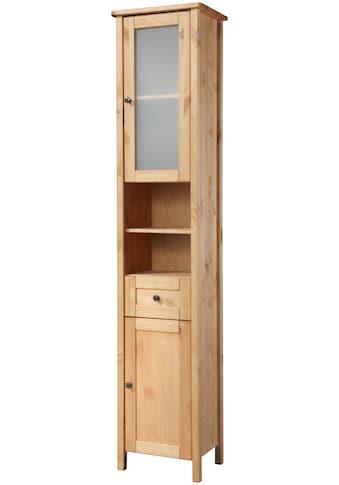 WELLTIME Hochschrank »Sylt«, Landhaus, Breite 35 cm, aus Massivholz kaufen