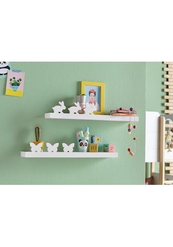 Lüttenhütt Wandregal »Schmetterling + Hase«, (2er--Set) kaufen