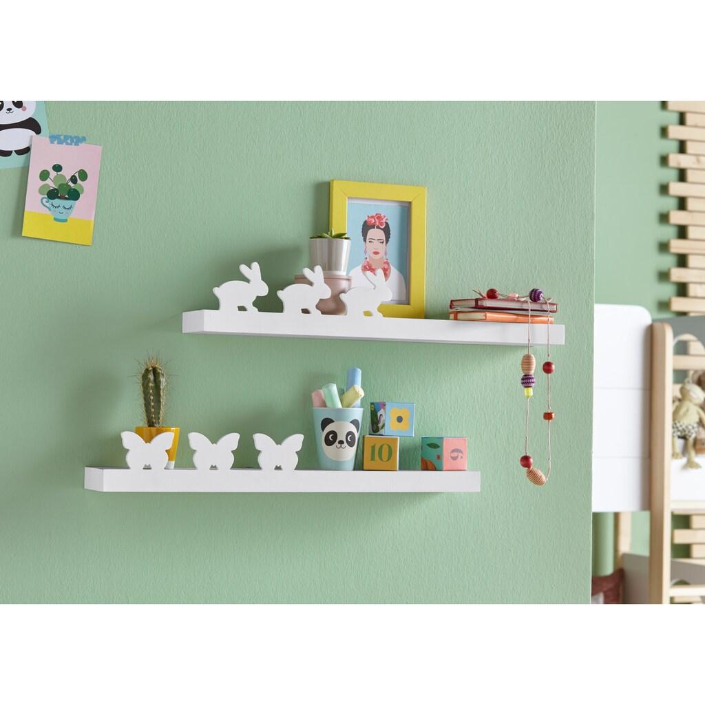 Lüttenhütt Wandregal »Schmetterling + Hase«, (2er--Set)