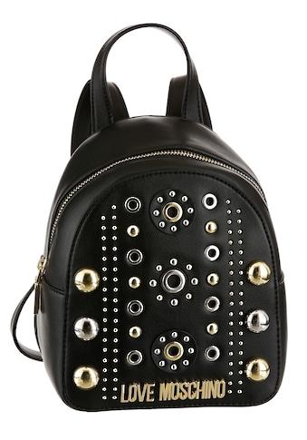 LOVE MOSCHINO Minirucksack, mit modischen Nieten verziert kaufen