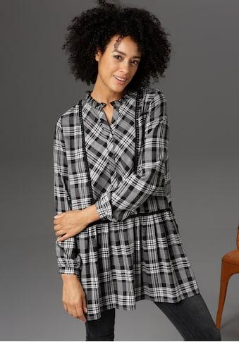 Aniston CASUAL Tunika, mit Bordüren und Rüsche verziert - NEUE KOLLEKTION kaufen