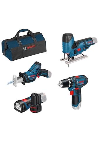 Bosch Professional Elektrowerkzeug-Set, (Set, 8 tlg.), mit 3 Werkzeugen, Akkus,... kaufen