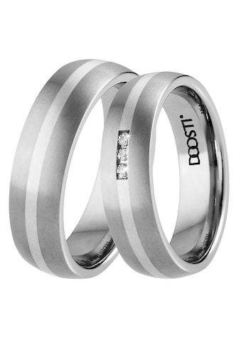DOOSTI Trauring »TS-01-D, TS-01-H, SILVER LINE«, Made in Germany - wahlweise mit oder... kaufen