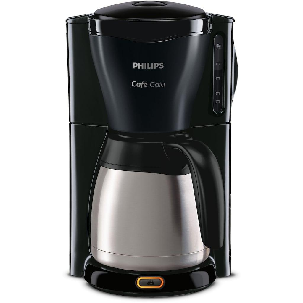 Philips Filterkaffeemaschine »Gaia Therm Timer HD7549/20«, Papierfilter, 1x4, mit doppelwandiger Isolierkanne aus Edelstahl
