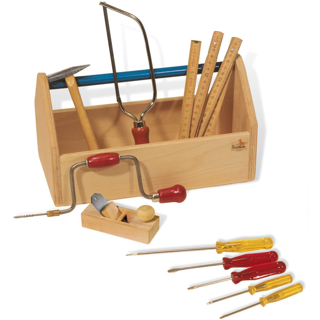 Pinolino® Kinder-Werkzeug-Set »Werkzeugkiste mit Werkzeug«, (Set, 11 tlg.), Made in Europe