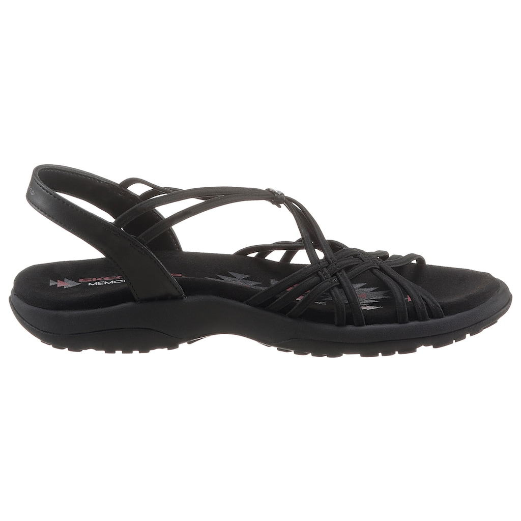 Skechers Sandale »REGGAE SLIM«, mit Gummibändern zum Schlupfen