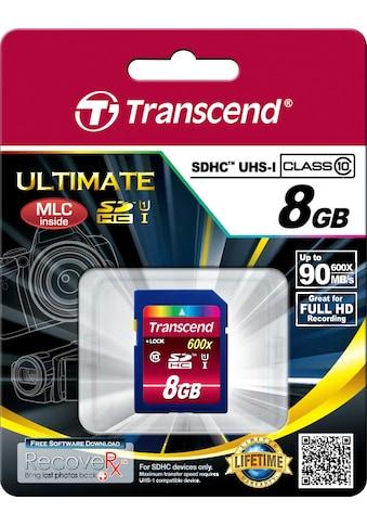 Transcend »SDXC/SDHC Class 10 UHS - I 600x« Speicherkarte (Lesegeschwindigkeit maximal 90 MB/s) kaufen