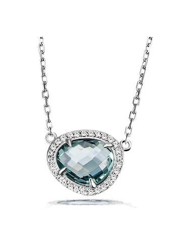 goldmaid Collier, 925 Silber Glasstein blau mit Zirkonia kaufen