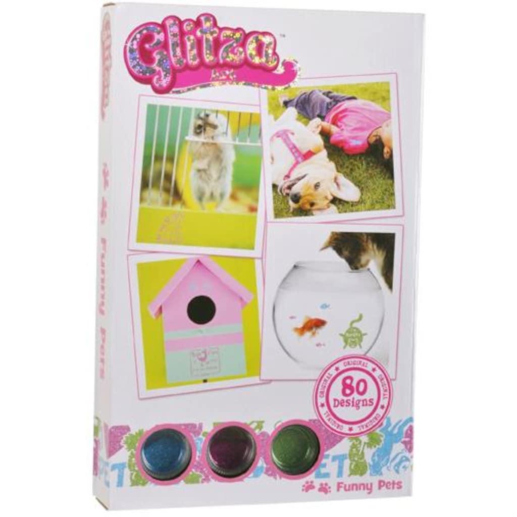 Knorrtoys® Kreativset »GLITZA Starter Set Funny Pets«, (Set), Für alle Oberflächen geeignet