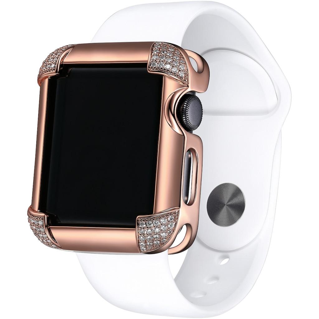 SKY•B Smartwatch-Hülle »PAVÉ CORNERS, W002R40, 40 mm«, Watch