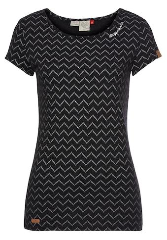 """Ragwear Rundhalsshirt »MINT CHEVRON«, mit ausdrucksstarkem """"Zig Zag"""" Allover-Print kaufen"""
