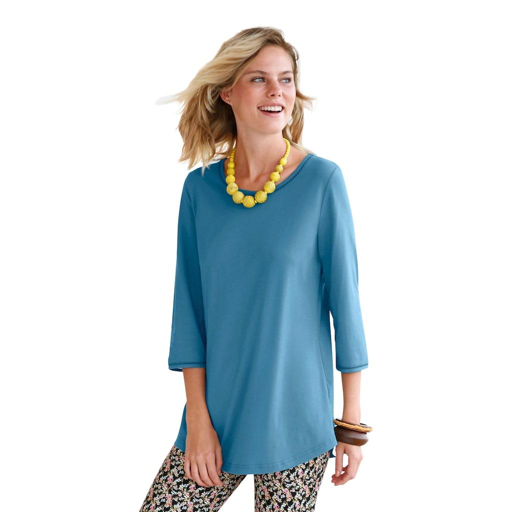 Green Cotton Longshirt »mit 3/4-Arm«, Besatz