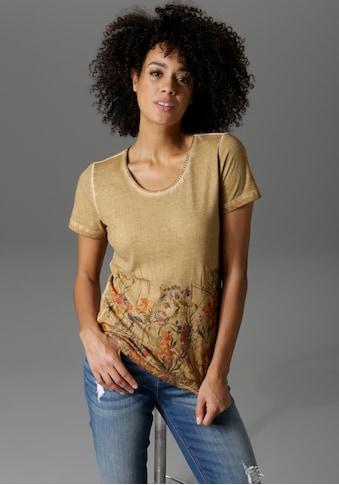 Aniston CASUAL T-Shirt, in trendiger Oil dyed-Waschung - NEUE KOLLEKTION kaufen
