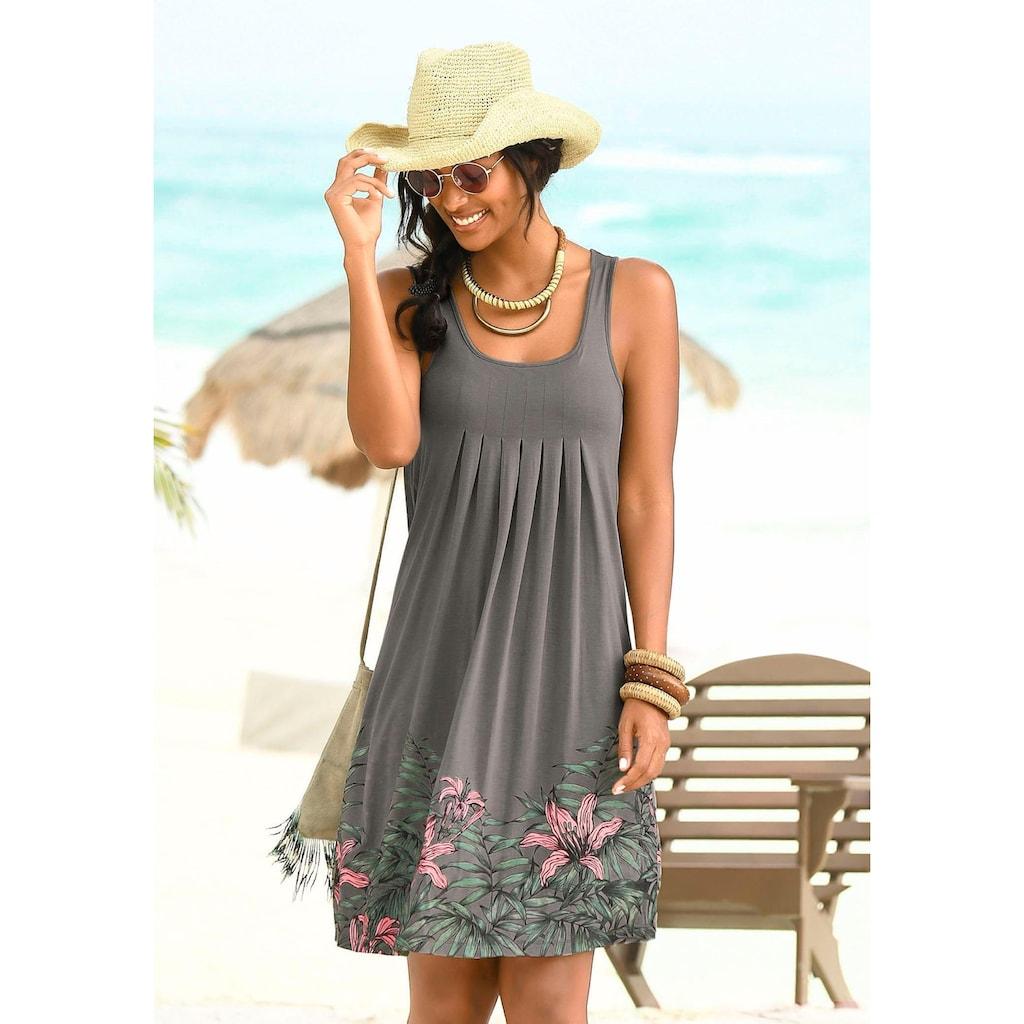 Beachtime Strandkleid, mit Liliendruck