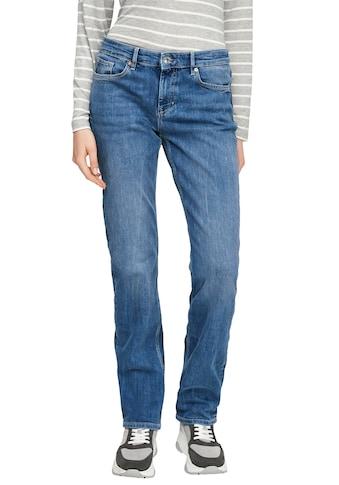s.Oliver Regular-fit-Jeans »Karolin«, straight leg, mid rise kaufen