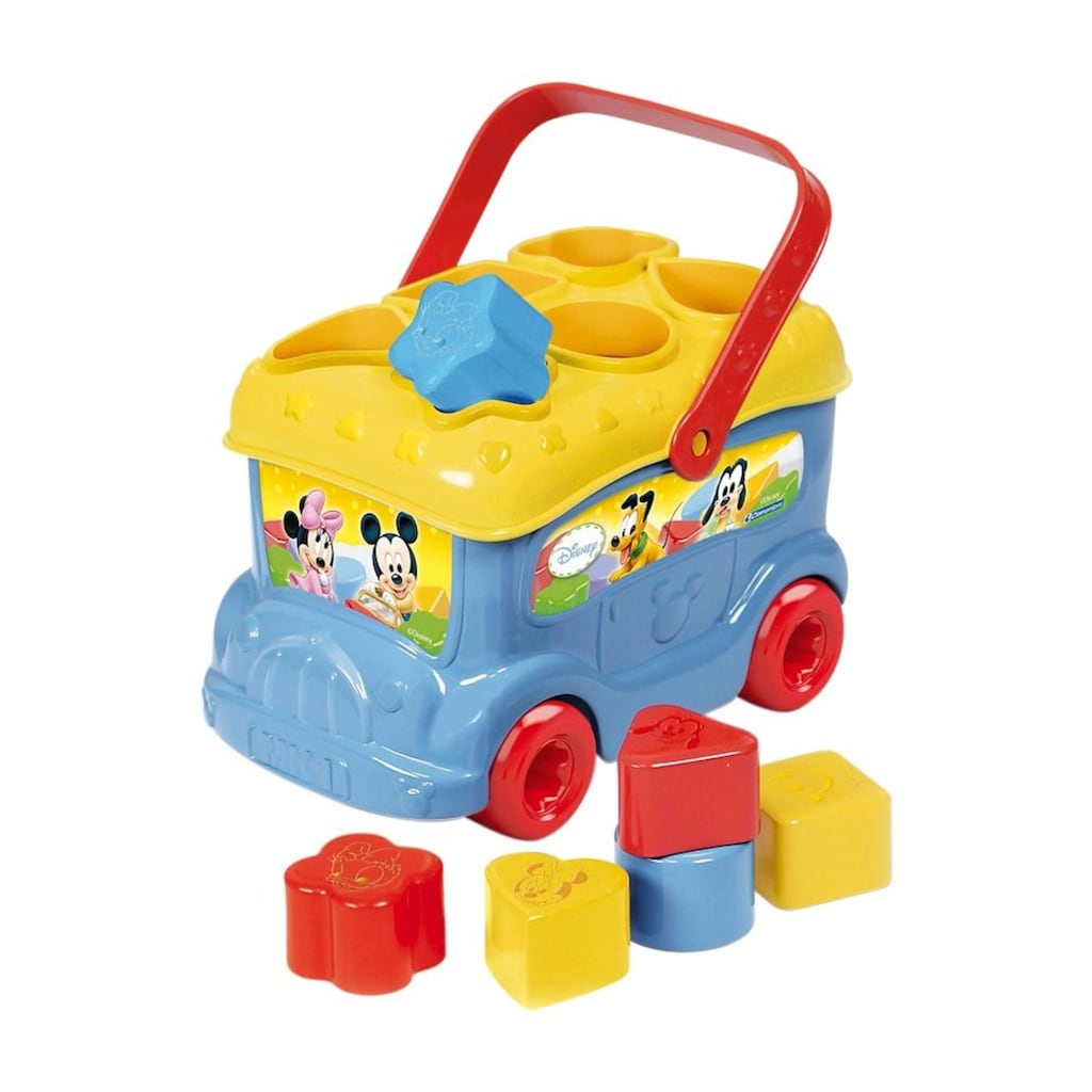 Clementoni® Spielbausteine »Baby Mickey Sortierbus«, Made in Europe