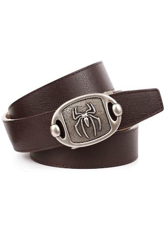 """Anthoni Crown Ledergürtel, mit Metallschnalle """"Spider"""" in altsilberfarben kaufen"""