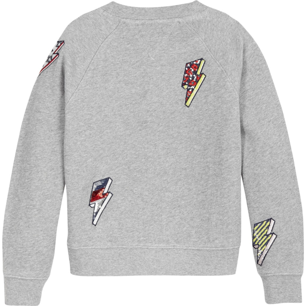 TOMMY HILFIGER Sweatshirt, mit Pailletten-Blitze