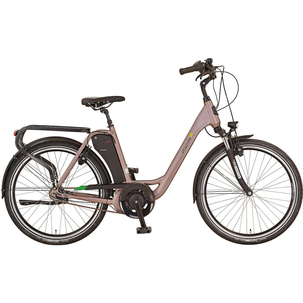 "Prophete E-Bike »GENIESSER City E-Bike 26""«, 7 Gang, Shimano, Mittelmotor 250 W"