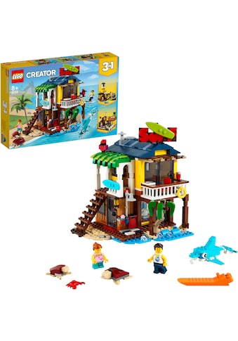 LEGO® Konstruktionsspielsteine »Surfer-Strandhaus (31118), LEGO® Creator«, (564 St.),... kaufen