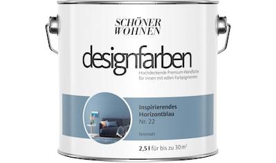 SCHÖNER WOHNEN FARBE Farbe »Designfarben«, Inspirierendes Horizontblau Nr. 22, feinmatt 2,5 l kaufen