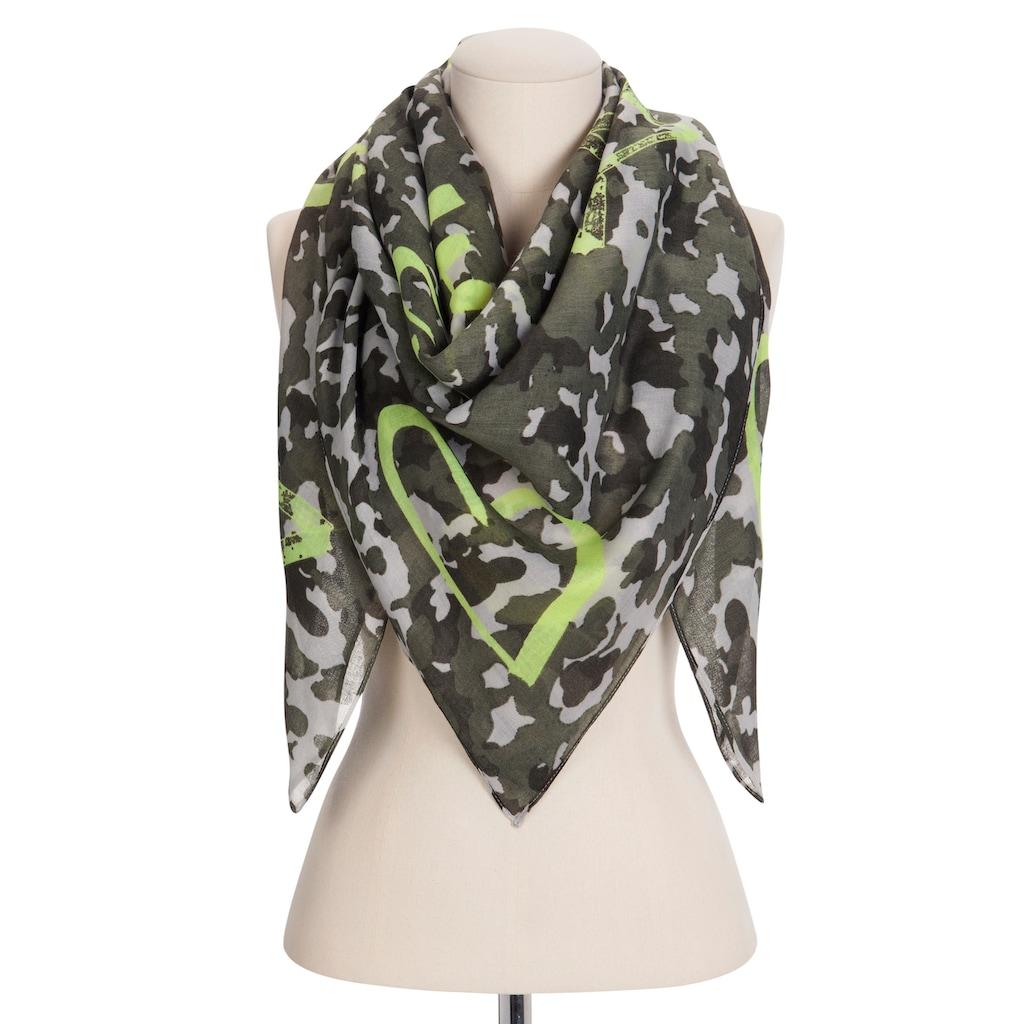 Codello XL-Tuch mit trendigem Tarnmuster aus recyceltem Polyester