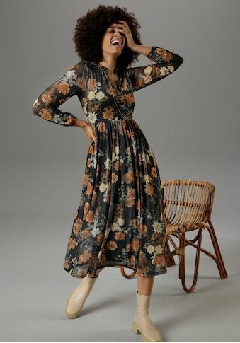 Aniston CASUAL Midikleid, mit großflächigem Blumendruck - NEUE KOLLEKTION kaufen
