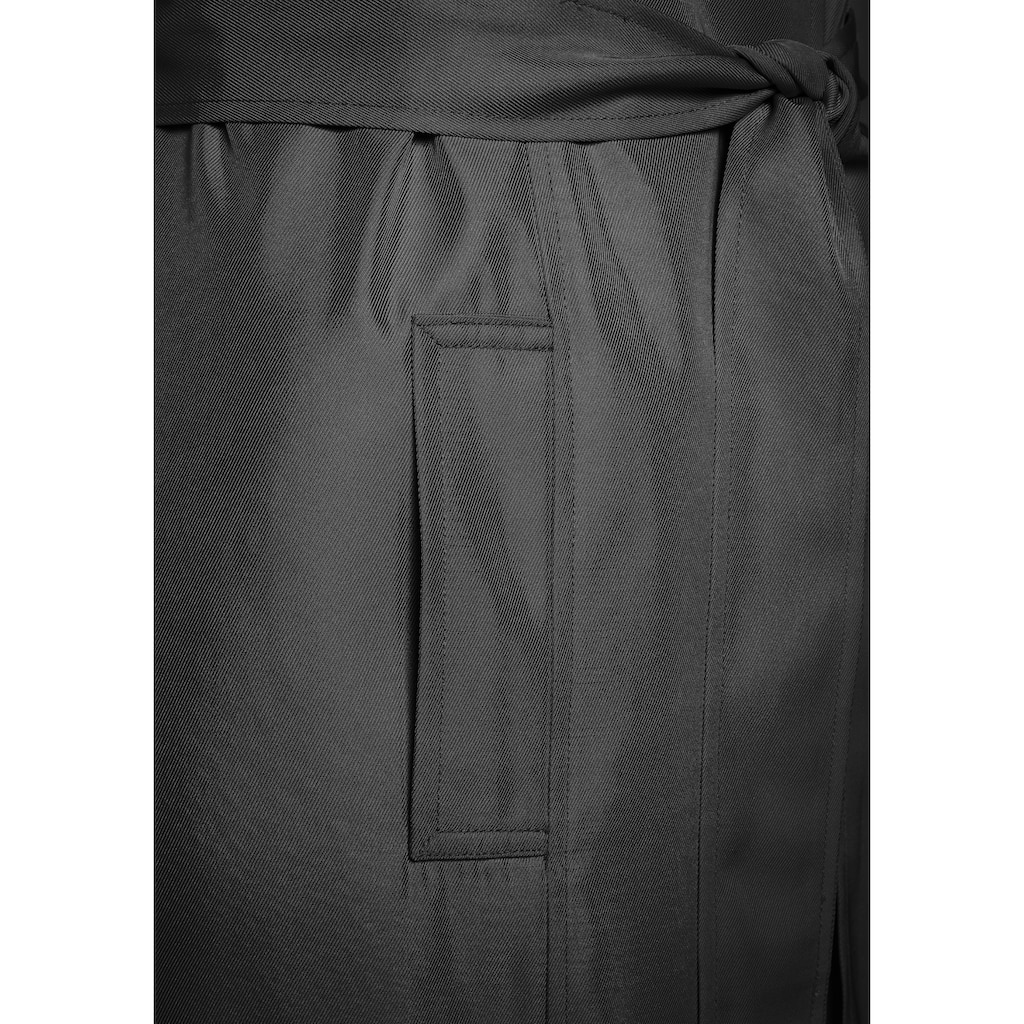 LASCANA Trenchcoat, (mit Bindegürtel), in offener Form