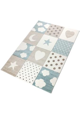 Kinderteppich, »Karo Mix«, Living Line, rechteckig, Höhe 12 mm, maschinell gewebt kaufen