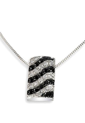 goldmaid Collier Silber 925/- Anhänger schwarz weiße Zirkonia Wellenform kaufen